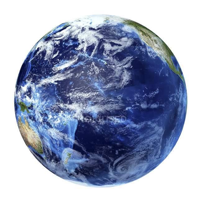 Satellite view of Pacific Ocean — Stock Photo
