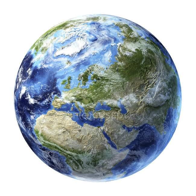 Vista de satélite da Europa — Fotografia de Stock