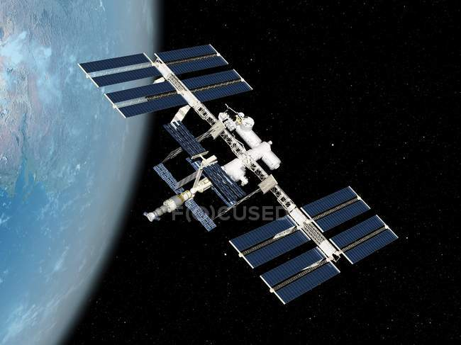 Station spatiale internationale — Photo de stock