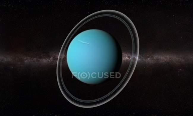 Орбитальный вид поверхности Урана — стоковое фото