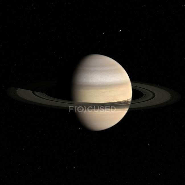 Satellite view of Saturn — Stock Photo