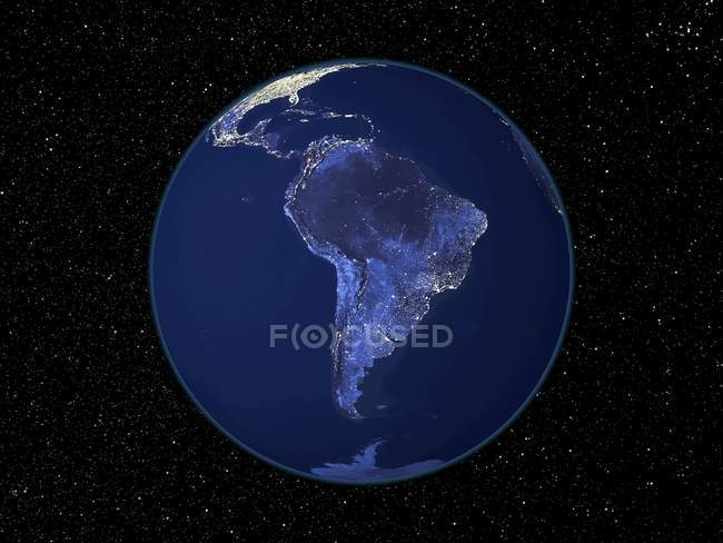 Earth seen from space — Stock Photo