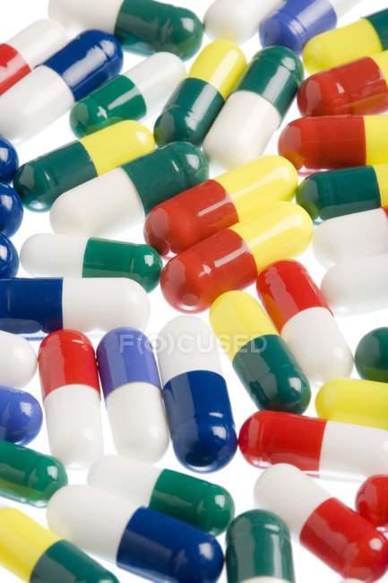Diferentes variedades de pastillas - foto de stock