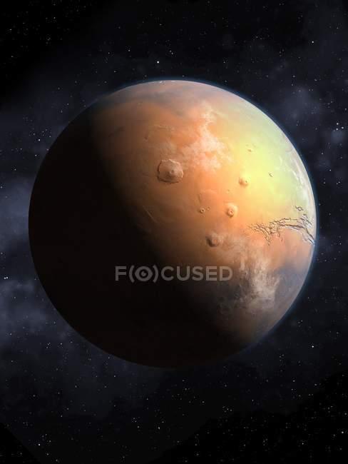 Olympus Mountain on Mars surface — Stock Photo