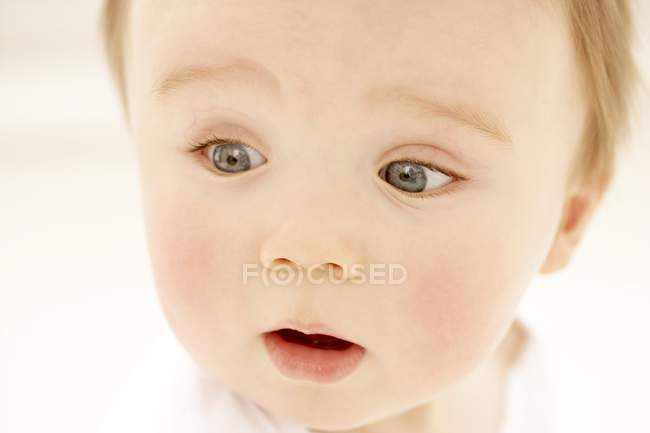 Portrait of surprised baby boy. — Stock Photo