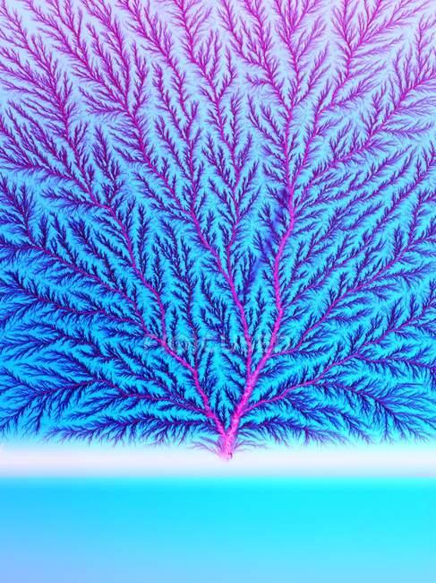 Vista abstracta del árbol de electrones . - foto de stock