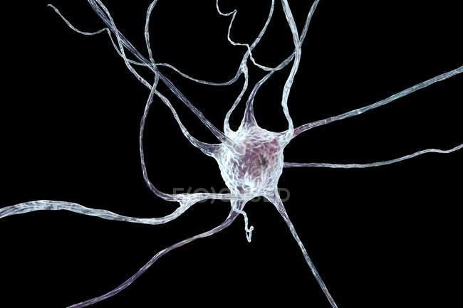 Nervenzellstruktur auf schlichtem Hintergrund — Stockfoto