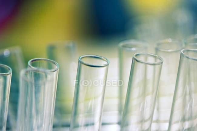 Group of laboratory test tubes. — Stock Photo
