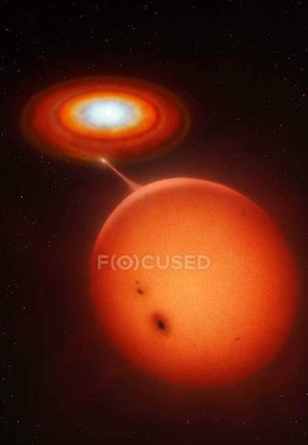 Cataclysmic binary stars — Stock Photo