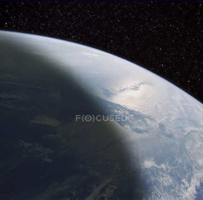 Composite satellite image of Florida Peninsula from space. — Stock Photo