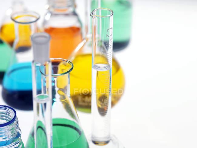 Close-up view of laboratory glassware. — Stock Photo