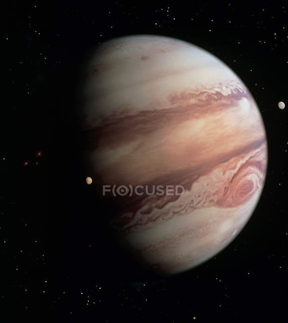 Gas giant planet Jupiter — Stock Photo