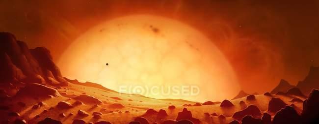 Futuro gigante rojo Sol - foto de stock