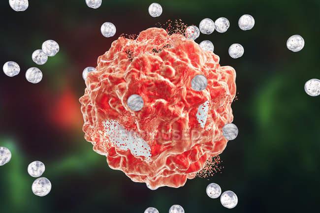 Destrucción de células cancerosas - foto de stock