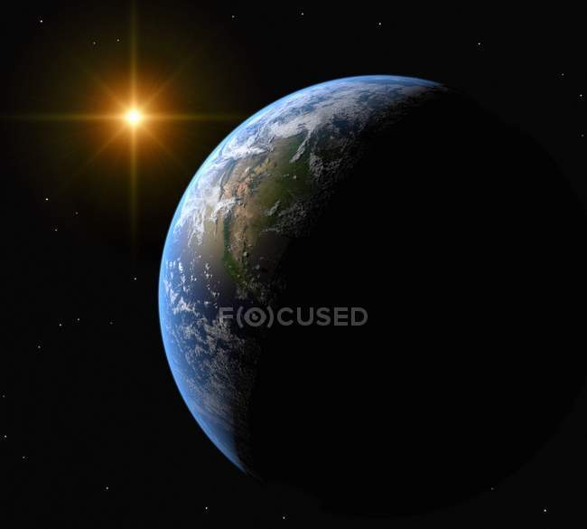 Terra e Sole — Foto stock