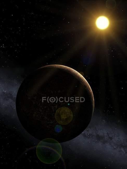 Mercury closest planet to the Sun — Stock Photo