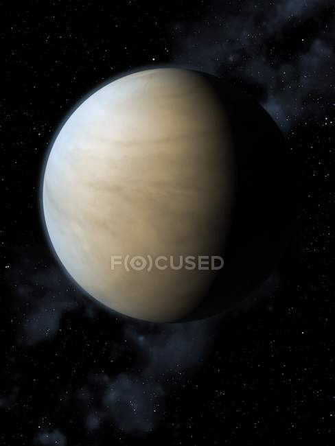 Venus mit dichteste Atmosphäre — Stockfoto