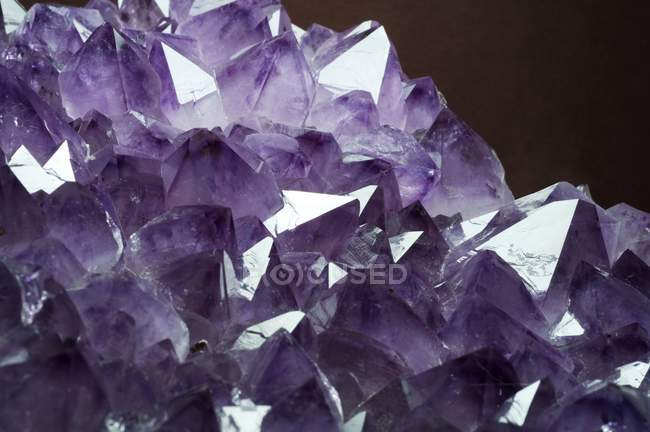 Amethyst crystals structure — Stock Photo