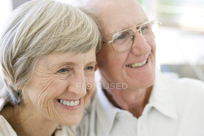 Portrait of cheerful senior couple. — Stock Photo
