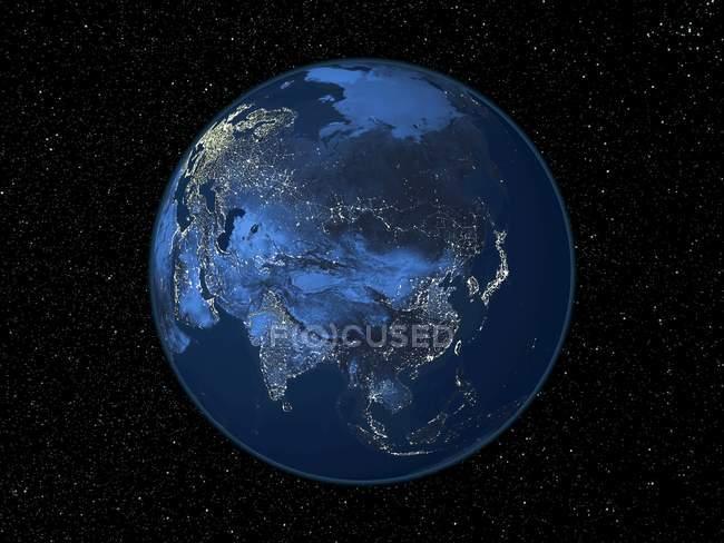 Tierra vista desde el espacio - foto de stock