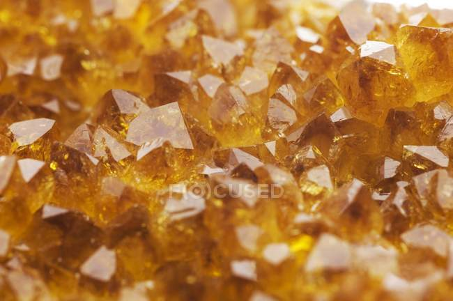 Close-up of citrine crystals, full frame. — Stock Photo