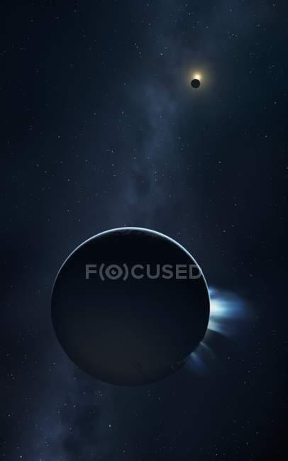 Plumas em erupção de Enceladus — Fotografia de Stock