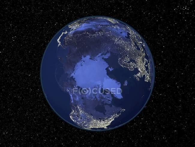 Земля из космоса — стоковое фото