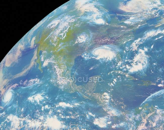 Satellite image of Americas continents. — Stock Photo