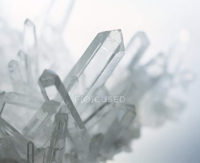 Quartz crystals structure — Stock Photo