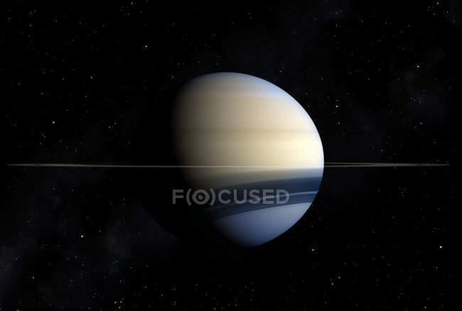 Saturn gas giant — Stock Photo