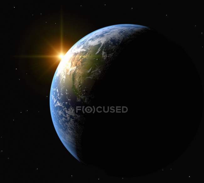 Earth and the Sun — Stock Photo