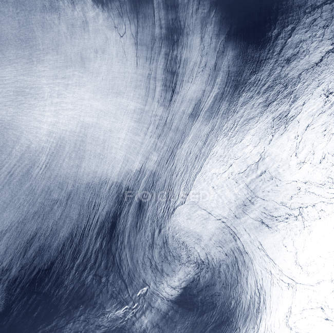 Satellite image of high-altitude clouds over Mediterranean Sea. — Stock Photo