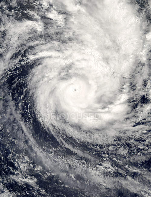 Satellite view of tropical cyclone Percy in Pacific Ocean. — Stock Photo