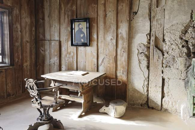 Martin Luther room in Wartburg medieval castle, Eisenach, Thuringia, Germany. — Stock Photo