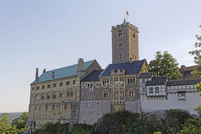 Wartburg medieval castle near Eisenach, Thuringia, Germany. — Stockfoto