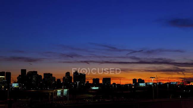Skyline Бостон в нічний, Массачусетс, США. — стокове фото