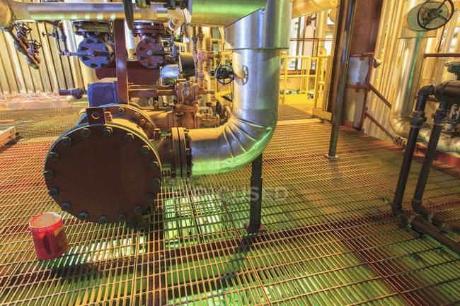 Zone de mélange caustique et acide de la centrale électrique . — Photo de stock