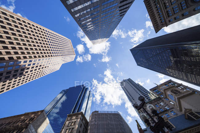 Modern skyscrapers, Boston, Massachusetts, USA. — Stock Photo