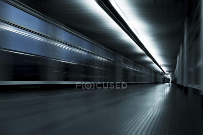 Abstract corridor with motion blur. — Stock Photo