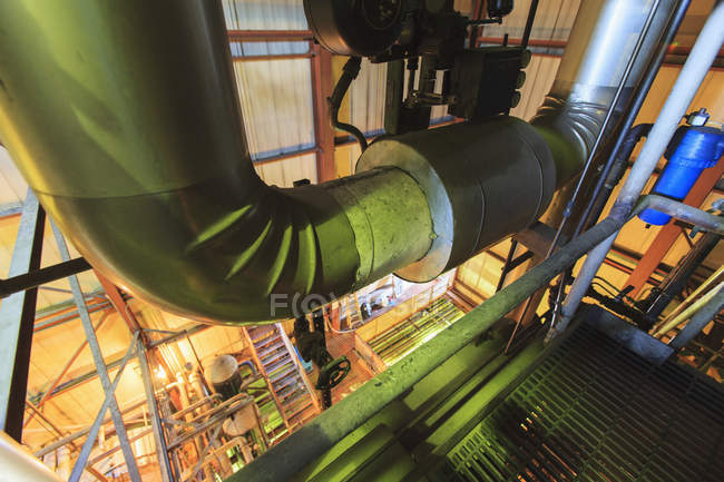 Vent ducting in electric power plant. — Stock Photo