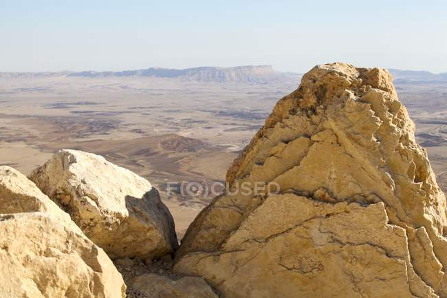Ramon Crater karst erosion cirque on Mount Negev in Israel. — Stock Photo