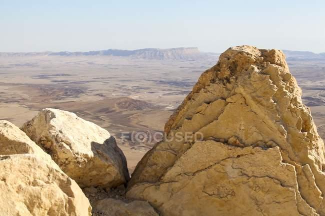 Ramon Crater karst erosion cirque on Mount Negev in Israel. — Stock Photo