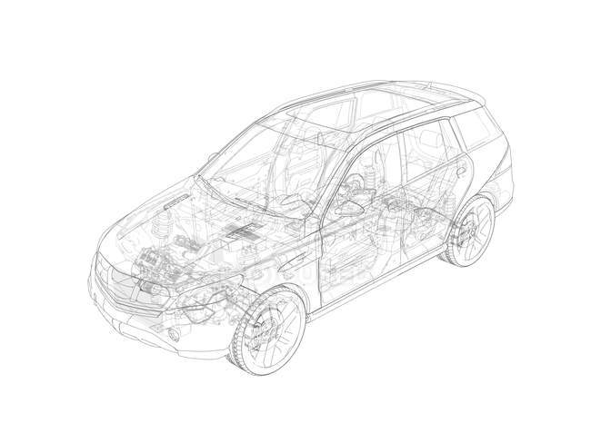 Drawing of car concept — Stock Photo