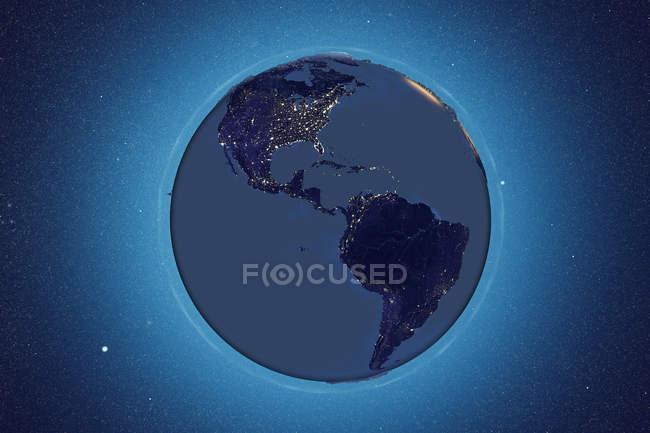 Земля, если смотреть из космоса — стоковое фото