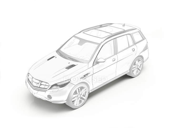 technical drawing of car industrial design puter illustration BMW Car technical drawing of car stock photo