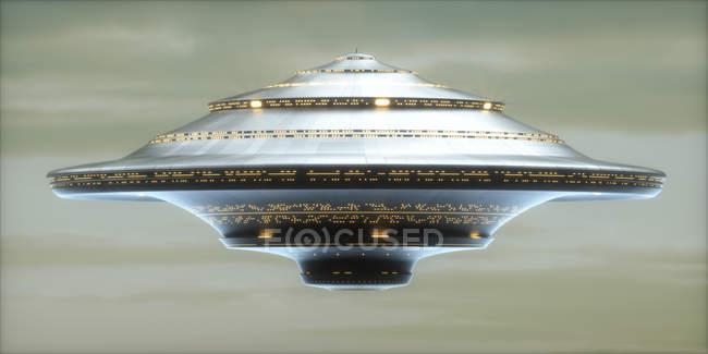 Extraterrestrial Spaceship in sky — Stock Photo