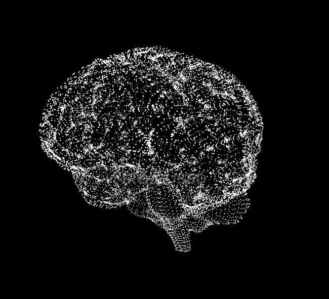 Renderização visual do cérebro humano — Fotografia de Stock