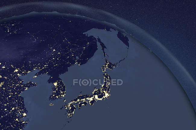 Japan seen from space — Stock Photo