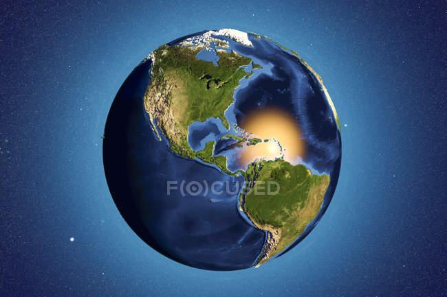 Terra vista dallo spazio — Foto stock