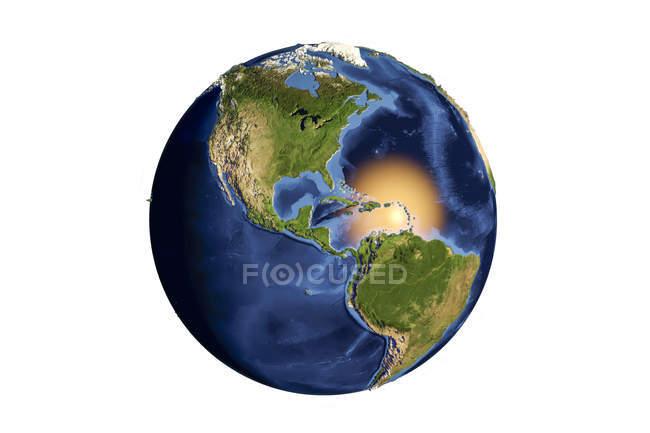 Terra vista do espaço — Fotografia de Stock